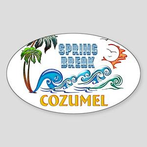 3D Palms Waves Sunset Spring Break COZUMEL Sticker
