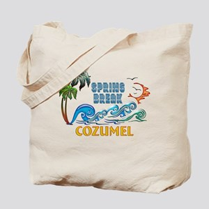 3D Palms Waves Sunset Spring Break COZUME Tote Bag