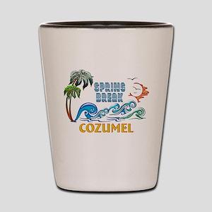 3D Palms Waves Sunset Spring Break COZU Shot Glass