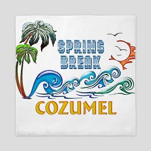 3D Palms Waves Sunset Spring Break COZ Queen Duvet