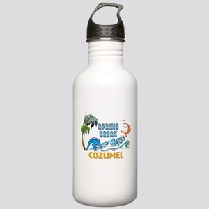3D Palms Waves Sunset Stainless Water Bottle 1.0L