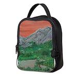 Sunset Mountains Neoprene Lunch Bag