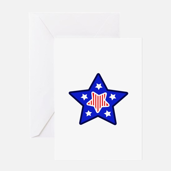 AMERICANA STAR Greeting Cards