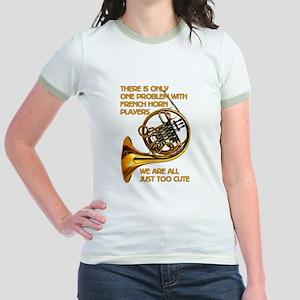 French Horn Cutie Jr. Ringer T-Shirt
