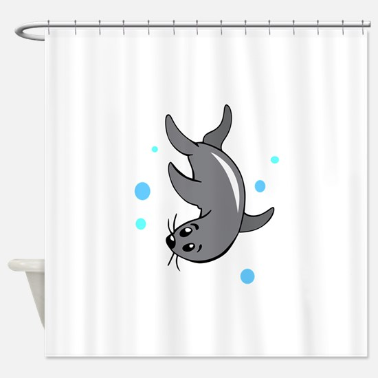 SWIMMING SEAL Shower Curtain