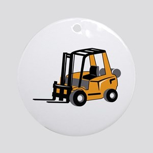 FORKLIFT Ornament (Round)