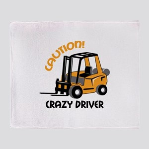 CRAZY FORFLIFT DRIVER Throw Blanket