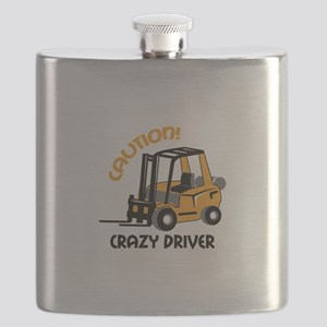 CRAZY FORFLIFT DRIVER Flask