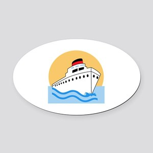 CRUISE SHIP Oval Car Magnet