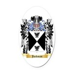 Jackman Oval Car Magnet