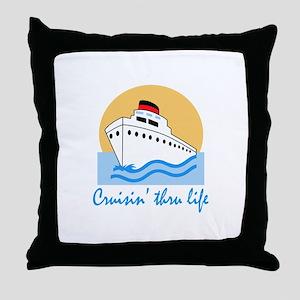 CRUISIN THRU LIFE Throw Pillow