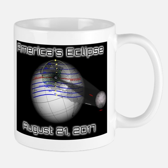 America's Eclipse with Moon August 21 2 Mug