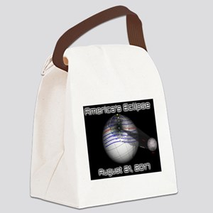 America's Eclipse with Moon Augus Canvas Lunch Bag
