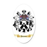Jaccoux Oval Car Magnet