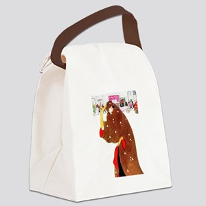 Christmas In New York Canvas Lunch Bag