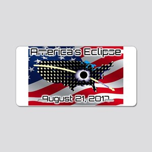 America's Eclipse August 21 Aluminum License Plate