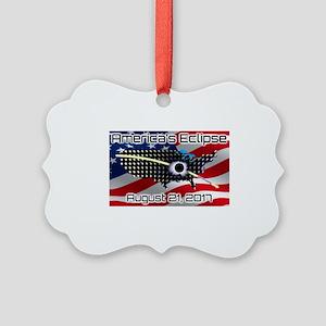 America's Eclipse August 21, 2017 Picture Ornament