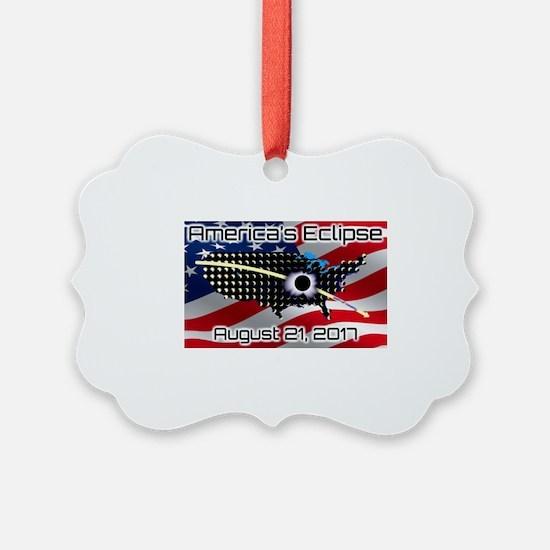America's Eclipse August 21, 2017 Ornament
