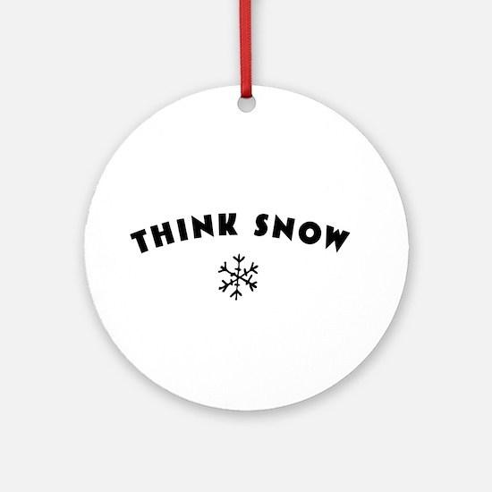 Think Snow Ornament (Round)