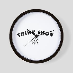 Think Snow Wall Clock