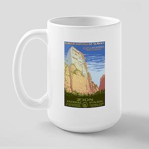 1930s Vintage Zion National Park Large Mug