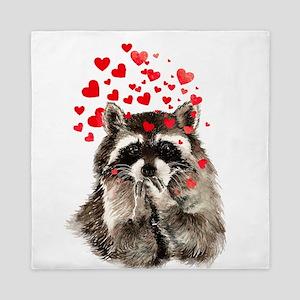 Raccoon Blowing Kisses Cute Animal Love Queen Duve