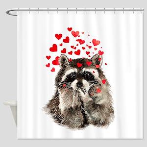 Raccoon Blowing Kisses Cute Animal Love Shower Cur