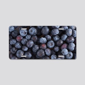 Blueberry Aluminum License Plate