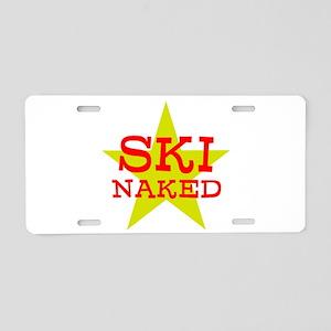 SKI NAKED Aluminum License Plate