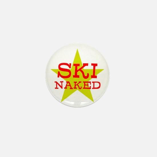 SKI NAKED Mini Button