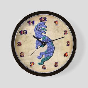 Blue Kokopelli Wall Clock