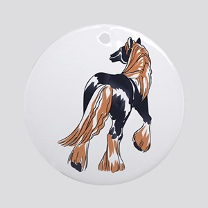 LARGER CLYDESDALE HORSE Ornament (Round)