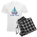 Customizable Blue Sailboat Pajamas