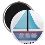 Customizable Blue Sailboat Magnets