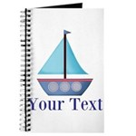 Customizable Blue Sailboat Journal