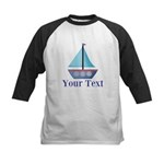 Customizable Blue Sailboat Baseball Jersey