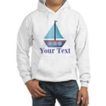 Customizable Blue Sailboat Hoodie