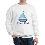Customizable Blue Sailboat Sweatshirt