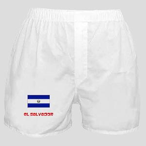 El Salvador Flag Retro Red Design Boxer Shorts