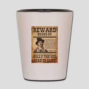 NOSTALGIC BILLY THE KID WANTED POSTER Shot Glass