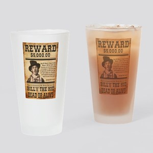 NOSTALGIC BILLY THE KID WANTED POSTER Drinking Gla