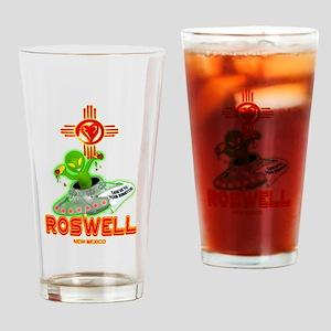 ROSWELL ALIEN LOVE Drinking Glass