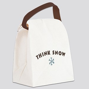 Think Snow Canvas Lunch Bag