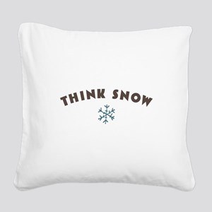 Think Snow Square Canvas Pillow