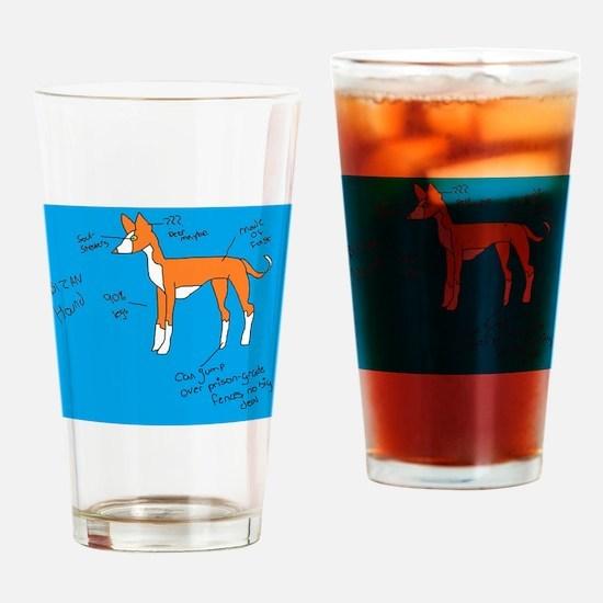 Cute Ibizan hound Drinking Glass