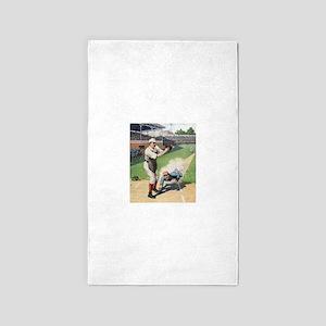 vintage baseball players Area Rug