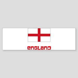 England Flag Retro Red Design Bumper Sticker