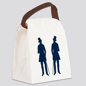 blue dandy victorian men Canvas Lunch Bag