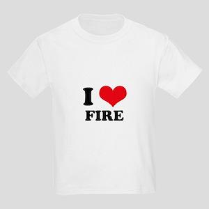 I Heart Fire Kids Light T-Shirt