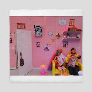 dolls pink dollhouse Queen Duvet